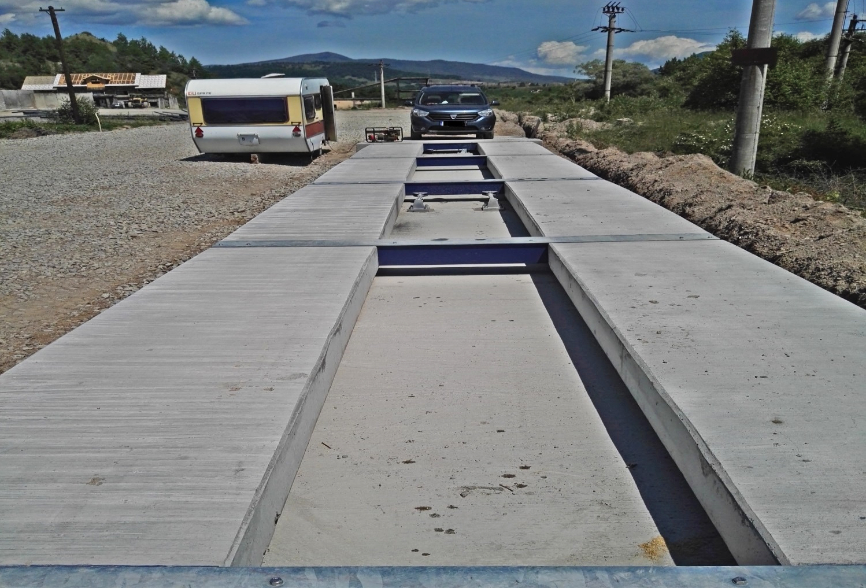 Cantar auto rutier portabil din beton